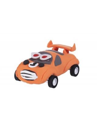 Маса для ліплення Paulinda Super Dough Racing time Машинка помаранчева, інерційний механізм PL-08116