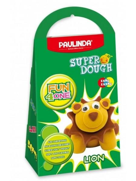 Маса для ліплення Paulinda Super Dough Fun4one Лев (рухливі очі) PL-1542
