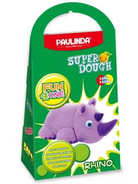 Маса для ліплення Paulinda Super Dough Fun4one Носоріг (рухливі очі) PL-1537