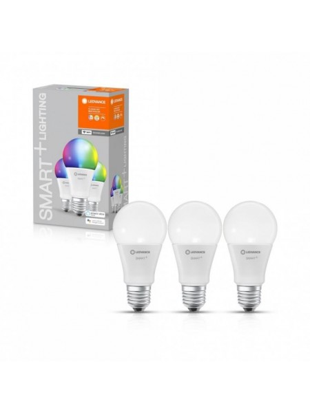 Набір ламп світлодіодних 3шт LEDVANCE (OSRAM) LEDSMART+ WiFi A60 9W (806Lm) 2700-6500K + RGB E27 дім