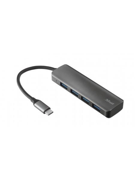 USB-хаб Trust Halyx USB-C to 4-Port USB-A 3.2 ALUMINIUM (23328_TRUST)
