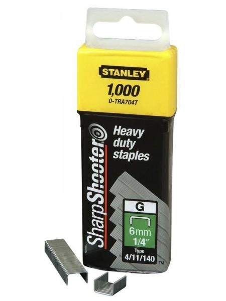 """Скоби Stanley """"Light Duty"""", тип G, 10х10.6мм, 1000шт"""