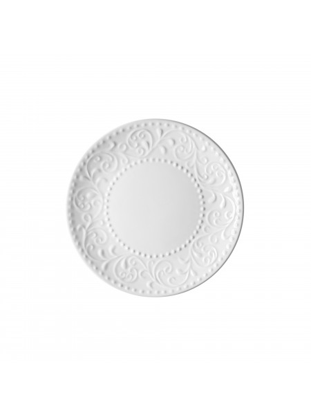 Тарілка десертна Ardesto Olbia, 19 см, White, кераміка (AR2919WC)