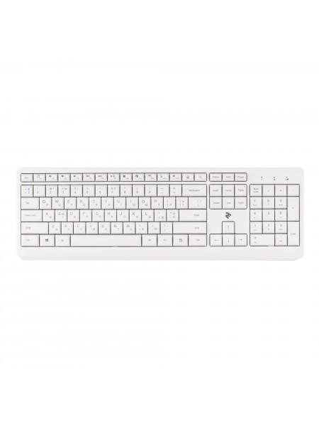 Клавіатура 2Е KS220 WL White